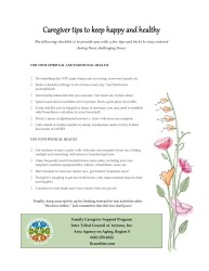 COVID caregiver program flyer