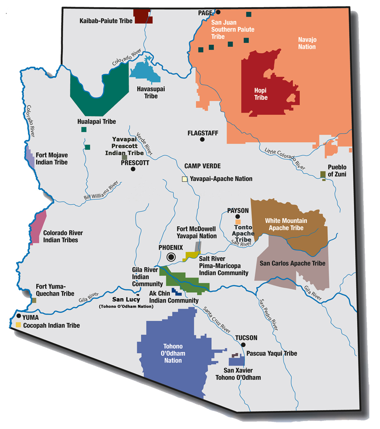LAPR Arizona Almanac – Arizona Tourist Map