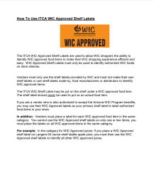 Click here to download the ITCA WIC Approved Shelf Labels Tool