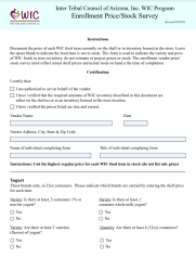 Click here to download the Enrollment Price/Stock Survey