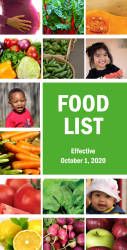 Click here to access the Arizona WIC Programs Authorized Food List Effective October 1, 2020
