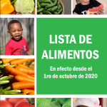 Arizona WIC Programs Authorized Food List Effective October 1, 2020 – Spanish