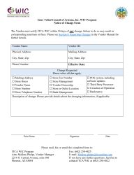 Click here to download the Notice of Change Form