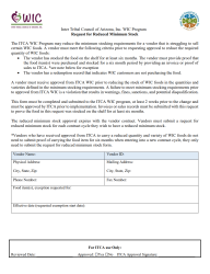 Click here to download the Request for Reduced Minimum Stock Form
