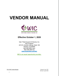 Click here to download the ITCA WIC Vendor Manual -effective October 1, 2020