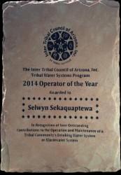 ITCA 2014 Award Plaque