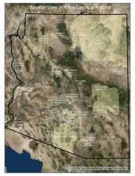 Satellite View of Tribal Homelands in Arizona