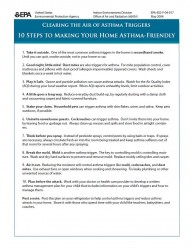 10 Steps to Making Your Home Asthma-Friendly