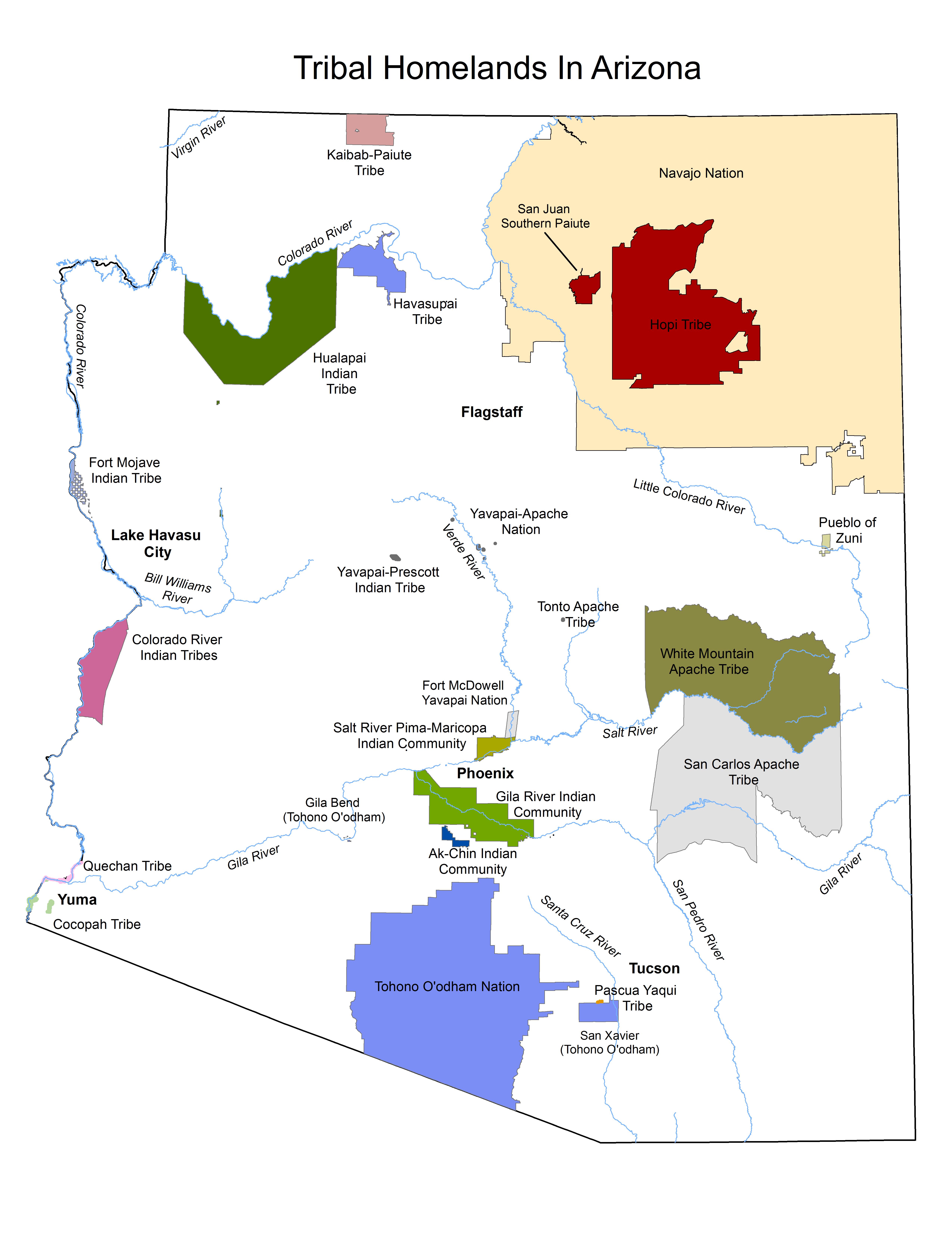 Arizona Indian Reservation Map Maps | ITCA
