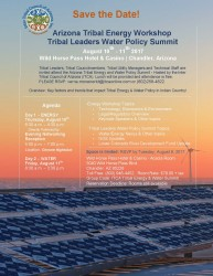 Save The Date - Tribal Energy & Water Workshop Summit