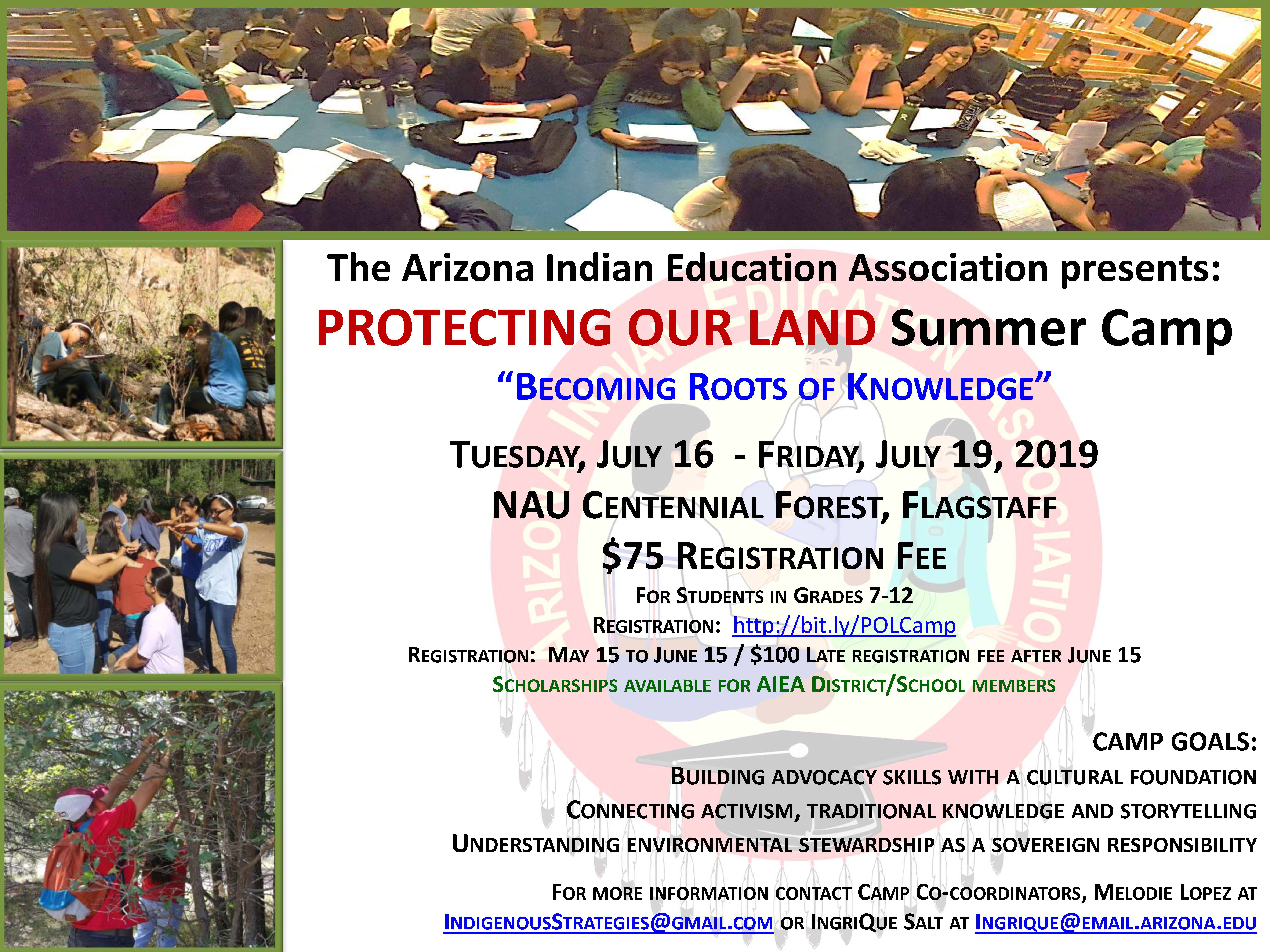 Protecting Our Land Summer Camp