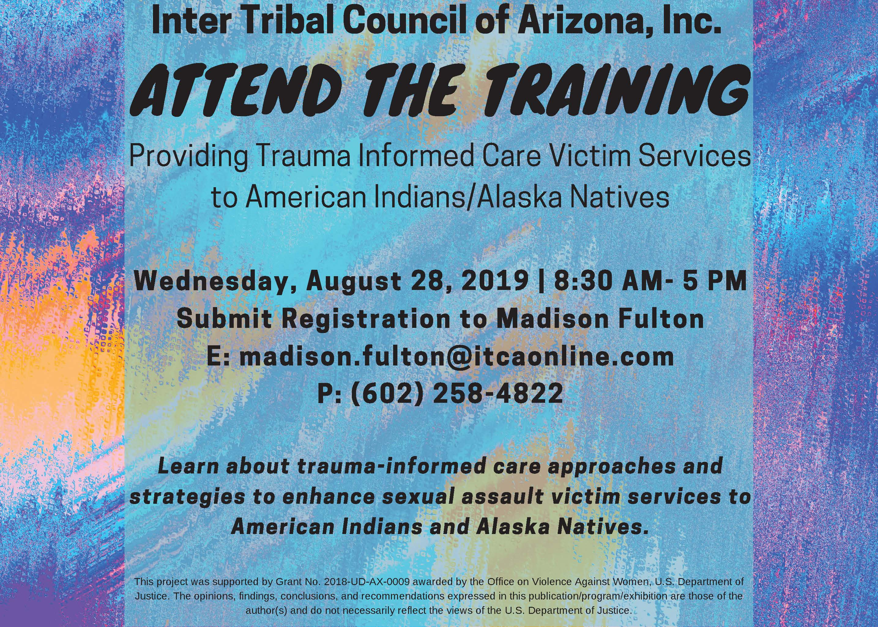 Providing Trauma Informed Care Victim Services to American Indians/Alaska Natives