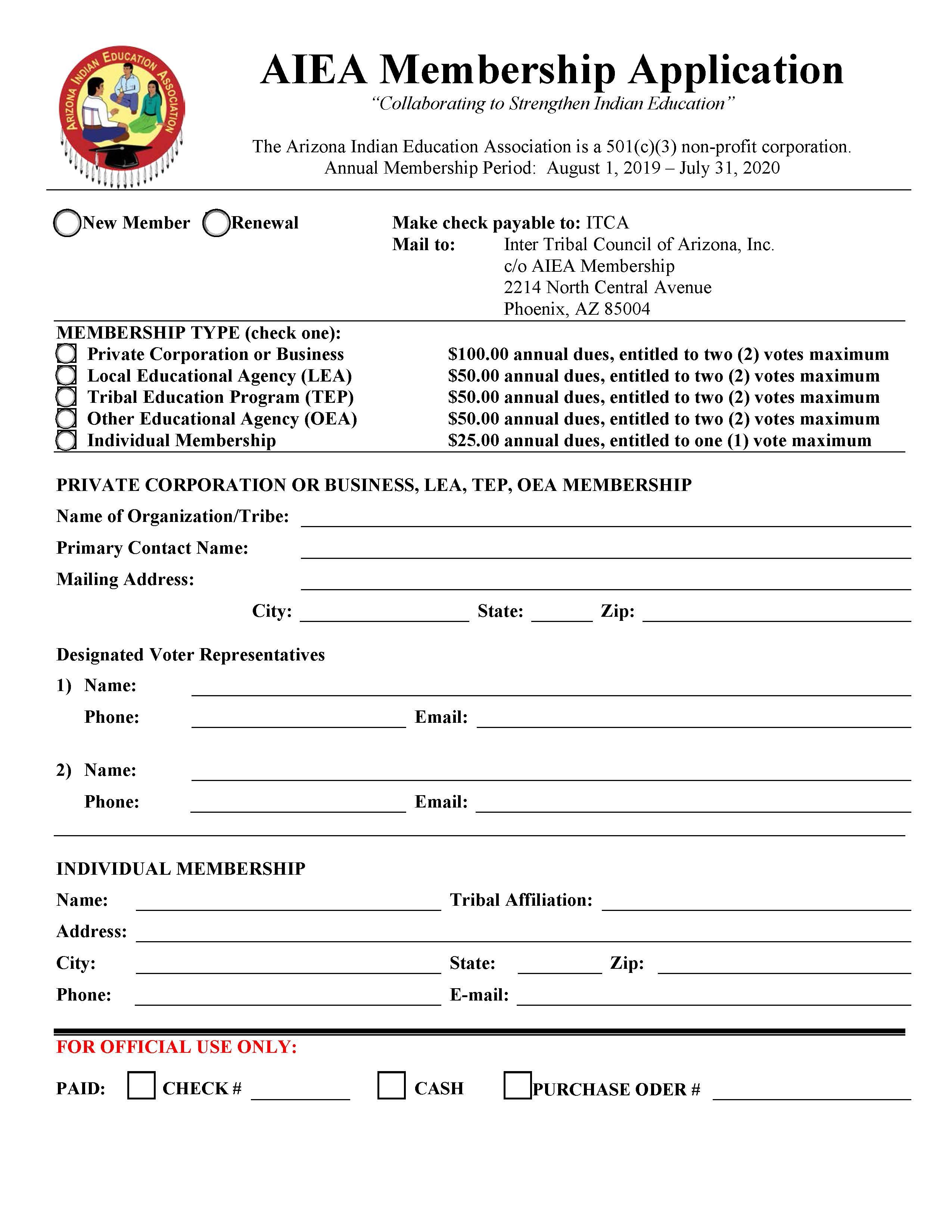 AIEA Membership Application