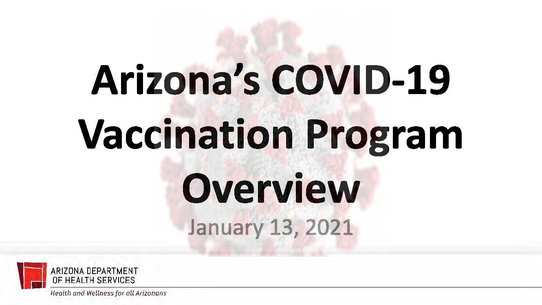 Arizona's COVID-19 Vaccination Program Overview